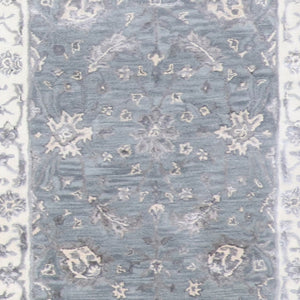 "2'10""x10' Decorative Vintage Gray Wool & Silk Rug - Direct Rug Import 