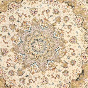 8'x8' Traditional Round Wool & Silk Hand-Tufted Rug - Direct Rug Import | Rugs in Chicago, Indiana,South Bend,Granger