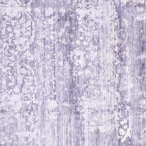 "8'11'x12'1"" Contmeporary Purple Silk Hand-Knotted Rug"