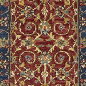 "2'3""x7'11"" Decorative Brugundy Wool Hand-Tufted Rug - Direct Rug Import 