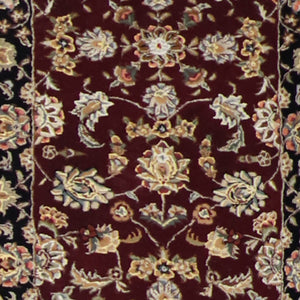 "2'8""x8'1"" Decorative Burgundy Wool & Silk Hand-Tufted Rug - Direct Rug Import 