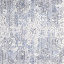 "Load image into Gallery viewer, 9'1""x12'5"" Transitional Gray&Ivory Wool & Silk Hand-Knotted Rug - Direct Rug Import 