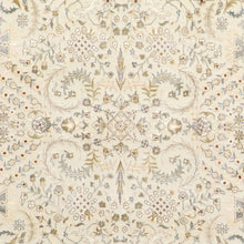 "Load image into Gallery viewer, 5'9""x8'2"" Traditional Ivory Tabriz Wool & Silk Hand-Knotted Rug - Direct Rug Import 