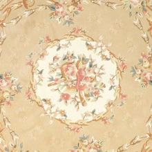 "Load image into Gallery viewer, 8'6""x8'6"" Decorative Tan Aubusson Wool Hand-Tufted Rug - Direct Rug Import 
