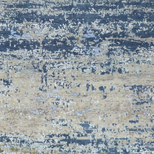 "Load image into Gallery viewer, 5'11""x9' Contemporary Gray Wool & Silk Hand-Knotted Rug - Direct Rug Import 