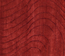 "Load image into Gallery viewer, 7'10""x9'7"" Contemporary Red Wool Hand-Knotted Rug - Direct Rug Import 