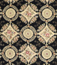"Load image into Gallery viewer, 8'6""x11'5"" Traditional Tabriz Black Wool & Silk Hand-Tufted Rug - Direct Rug Import 