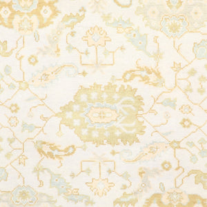 "8'4""x11'9"" Transiitonal Ivory Oushak Wool Hand-Knotted Rug - Direct Rug Import 