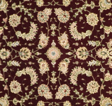 "Load image into Gallery viewer, 7'8""x9'10"" Traditional Tabriz Burgundy Wool & Silk Hand-Tufted Rug - Direct Rug Import 