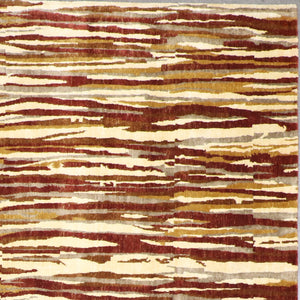 "9'x11'8"" Contemporary Red Wool & Silk Hand-Knotted Rug - Direct Rug Import 