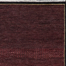 "Load image into Gallery viewer, 4'11""x6'7"" Contemporary Burgundy Nepal Wool Hand-Knotted Rug - Direct Rug Import 