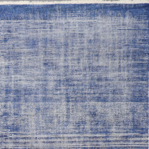 "8'7""x11'9"" Transitional Blue Wool Hand-Knotted Rug - Direct Rug Import 