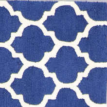 "Load image into Gallery viewer, 3'7""x5'5"" Contemporary Blue Wool Hand-Tufted Rug - Direct Rug Import 