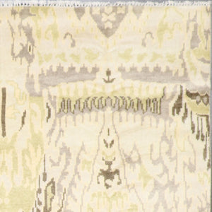 "7'2""x10'3""Contemoprary Tan Wool Hand-Knotted Rug - Direct Rug Import 