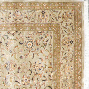 "7'10""x10' Traditional Tabriz Wool & Silk Hand-Knotted Rug - Direct Rug Import 
