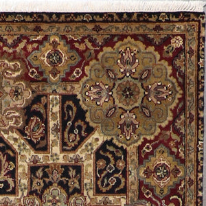"5'x8'3"" Traditional Yazed Wool Hand-Knotted Rug - Direct Rug Import 