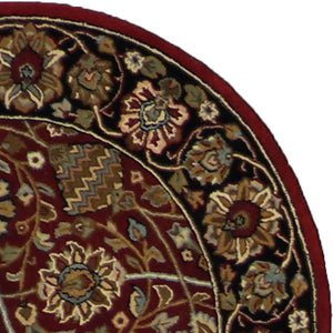 "3'11""x3'11"" Traditional Round Wool Rug - Direct Rug Import 