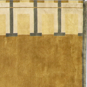 "8'11""x11'8"" Contemporary Tan Nepal Hand-Knotted Rug - Direct Rug Import 