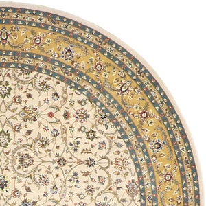 10'x10' Traditional Tabriz Round Wool&Silk Hand-tufted Rug - Direct Rug Import | Rugs in Chicago, Indiana,South Bend,Granger