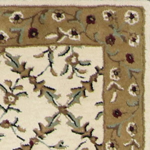 "3'x8'4"" Decorative Ivory Wool Hand-Tufted Rug - Direct Rug Import 