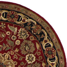 Load image into Gallery viewer, 4'x4' Traditional Round Red Wool Rug - Direct Rug Import | Rugs in Chicago, Indiana,South Bend,Granger