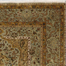 "Load image into Gallery viewer, 5'8""x7'8"" Traditional Green Tabriz Wool & Silk Hand-Knotted Rug - Direct Rug Import 