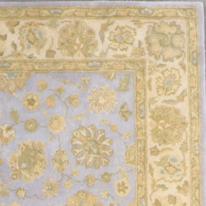 "7'7""x9'7"" Traditional Tan Wool Hand-Tufted Rug - Direct Rug Import 