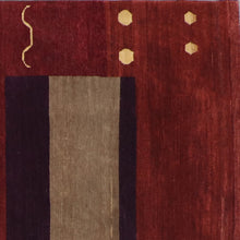 "Load image into Gallery viewer, 8'1""x10' Modern Burgandy Nepal Wool Hand-Knotted Rug"