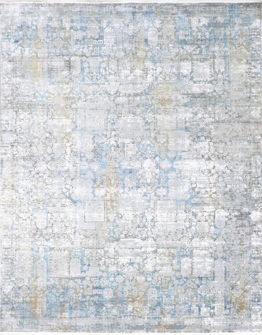 "7'9""x9'10"" Contemporary Wool & Silk Hand-Finished Rug"