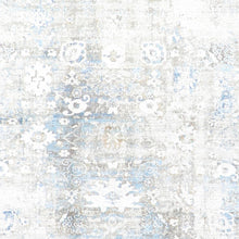 "Load image into Gallery viewer, 5'2""x7'6"" Transitional Gray Wool & Silk Hand-Finished Rug"