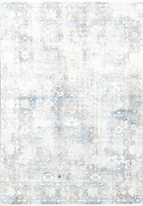 "5'2""x7'6"" Transitional Gray Wool & Silk Hand-Finished Rug"