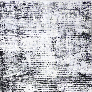"9'8""x13'4"" Contemporary Black Wool & Silk Hand-Finished Rug - Direct Rug Import 