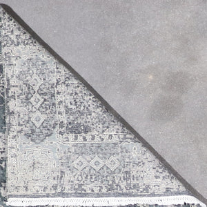 "4'1""x6'2"" Transitional Gray Wool Hand-Knotted Rug - Direct Rug Import 