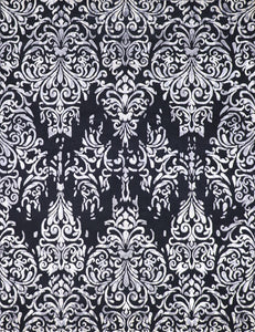 "7'10""x10'3"" Transitional Black Wool & Silk Hand-Knotted Rug - Direct Rug Import 