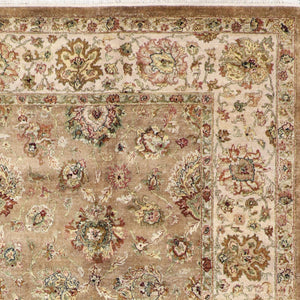"8'10""x12'1"" Traditional Tan Wool Hand-Knotted Rug - Direct Rug Import 