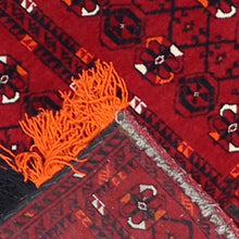 "Load image into Gallery viewer, 1'4""x1'7"" Persian Red Wool Hand-Knotted Rug"