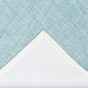 "5'1""x8'1"" Contemporary Teal Wool Hand-Tufted Rug"