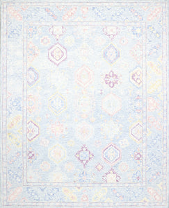 "8'1""x10' Decorative Blue Wool Hand-Tufted Rug - Direct Rug Import 