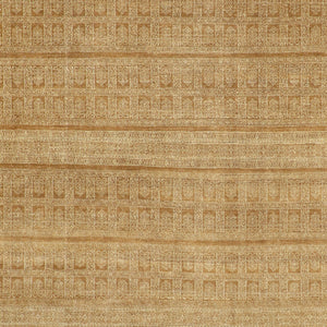"7'11""x9'10"" Decorative Tan& Light Brown Wool Hand-Knotted Rug - Direct Rug Import 