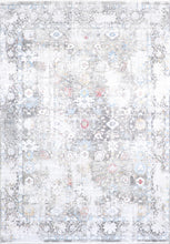 "Load image into Gallery viewer, 7'9""x9'10"" Transitional Gray Wool & Silk Hand-Finished Rug - Direct Rug Import 