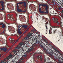 "Load image into Gallery viewer, 3'3""x4'9"" Kilim Red Wool Hand-Knotted Rug"