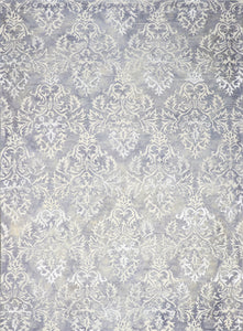 "8'1""x11'1"" Transitional Gray Wool & Silk Hand-Tufted Rug - Direct Rug Import 