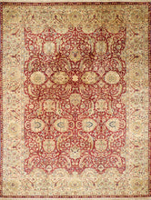 "Load image into Gallery viewer, 9'1""x12'1"" Traditional Red Wool Hand-Knotted Rug - Direct Rug Import 