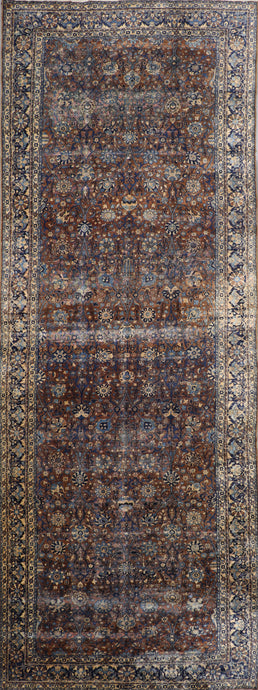"5'9""x17'3"" Traditional Rust-Brown Persian Antique Wool Hand-Knotted Rug - Direct Rug Import 