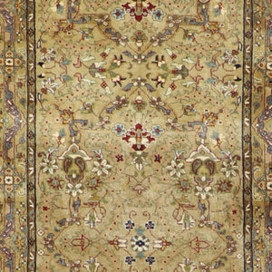 "2'7""x10' Persian Traditional Light Blue Wool Hand-Knotted Rug"