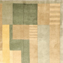 Load image into Gallery viewer, 8'x10' Contemporary Tibetan Green Wool Hand-Knotted Rug