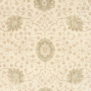 "8'x10'1"" Decorative Ivory Oushak Wool Hand-Knotted Rug"