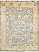 Load image into Gallery viewer, 9'x12' Decorative Teal Wool & Silk Hand-Knotted Rug
