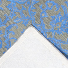 Load image into Gallery viewer, 6'x9' Transitional Blue Wool & Silk Hand-Tufted Rug