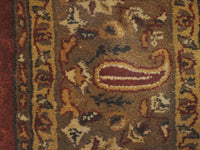 6' X 9' Overall Decorative Persian Lychee Brown Rectangular Wool Rug
